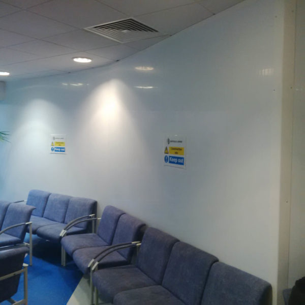 Hospital segregation with Hoardfast internal hoarding