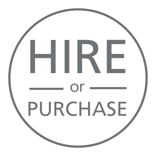 Hire or purchase available