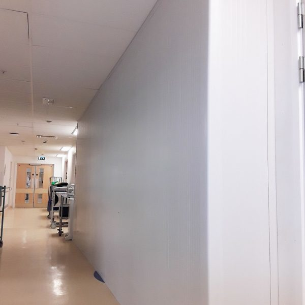 Hospital hoarding to temporarily screen off areas
