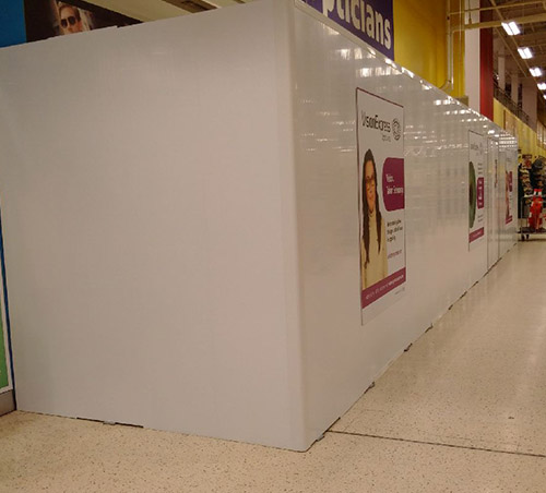 74fb27810f Case Study  Vision Express - Hoardfast for retail fit out