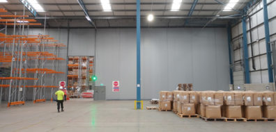 Flexiwall segregation at Great Bear for temperature control of different products