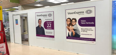 Vision Express hoarding