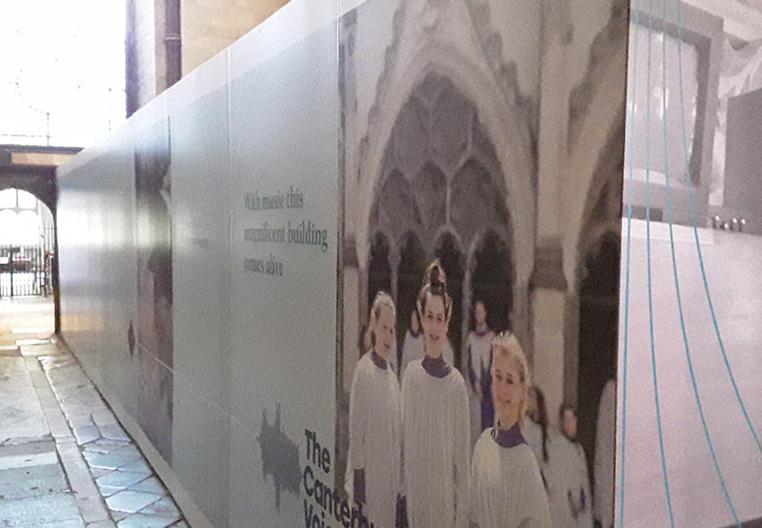 Canterbury Cathedral Hoarding