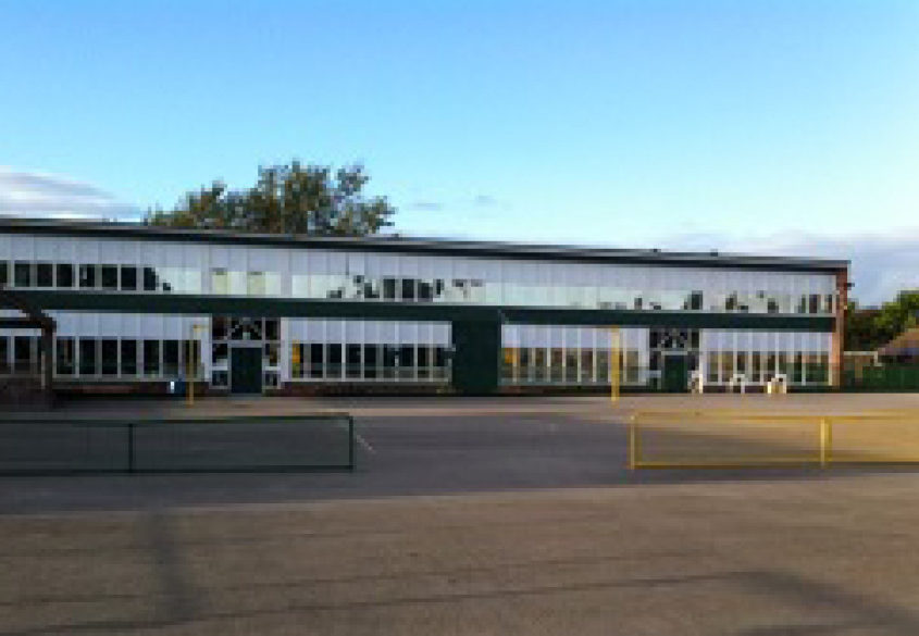 Sutherland school window film and blinds