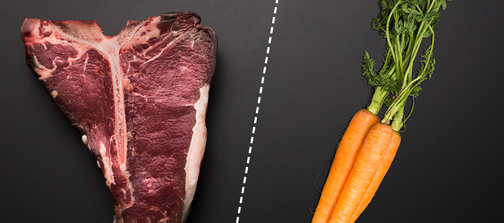 Meat and vegetables cross contamination