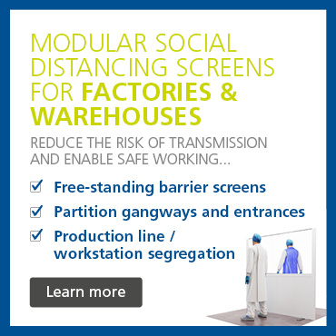 Partitions & screens for social distancing