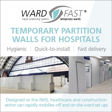 Wardfast temporary partitions and screens for hospitals