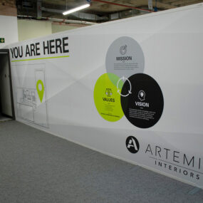 Office fit out hoarding