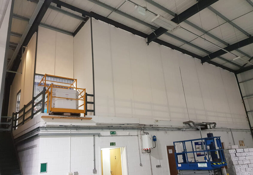 Mezzanine floor enclosure