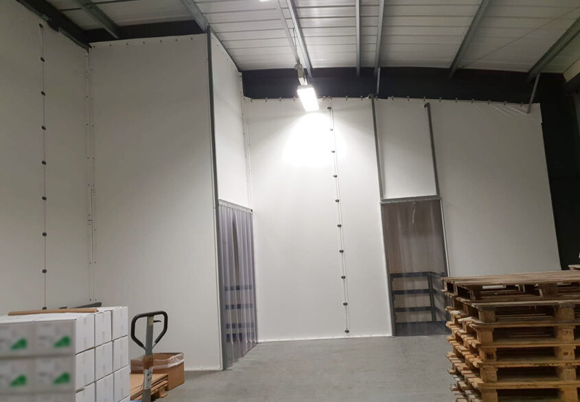 Manufacturing facility partition