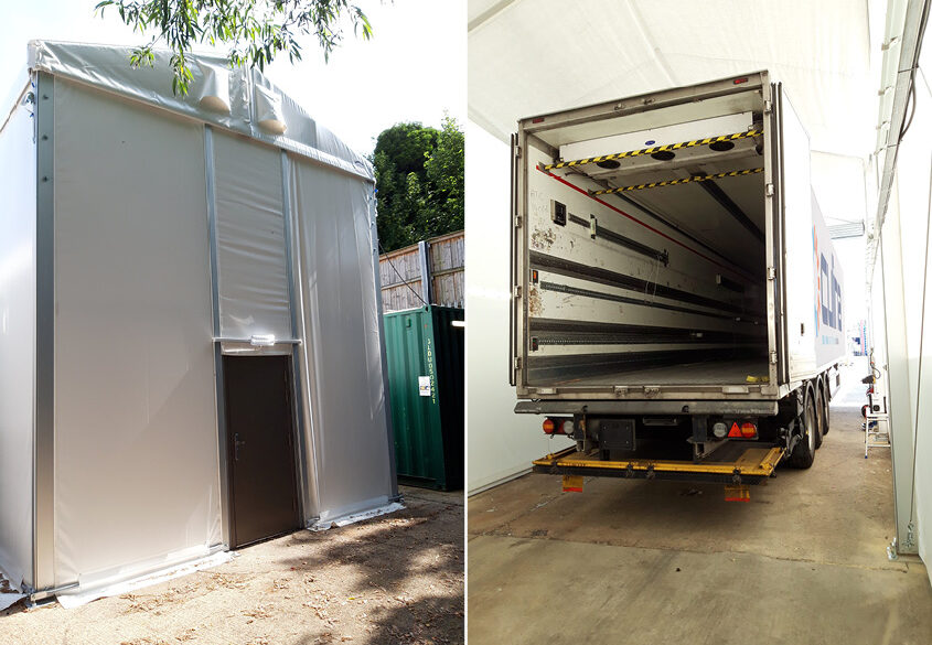 PVC coated fabric sides - Flexistructure
